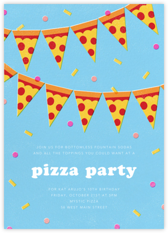 Five Easy Pizzas - Paperless Post - Online Kids' Birthday Invitations