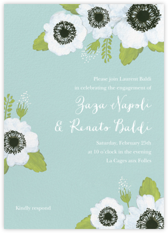 Anemone Blooms - Paper Source - Engagement party invitations