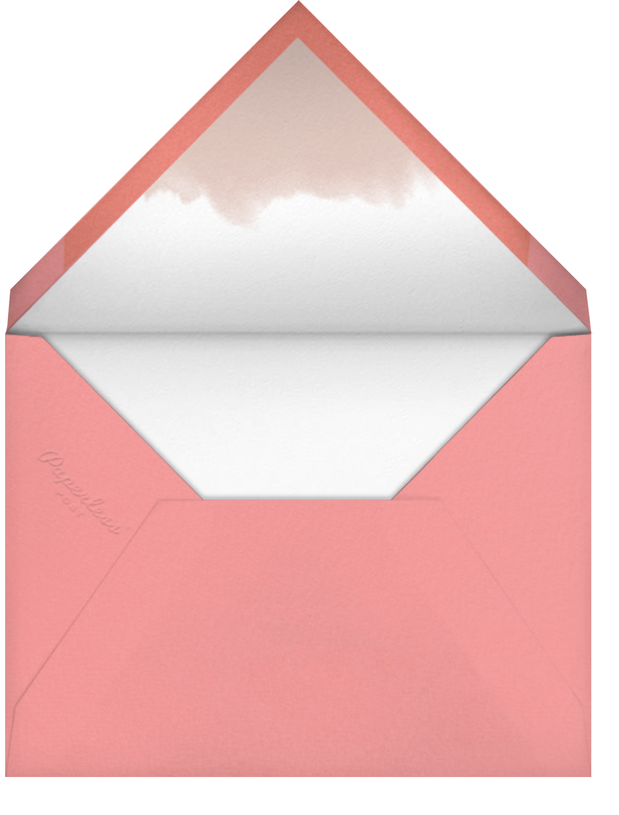 Coral Ombre - Paper Source - Holiday cards - envelope back
