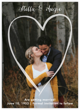Heart Frame - Paper Source - Photo save the dates