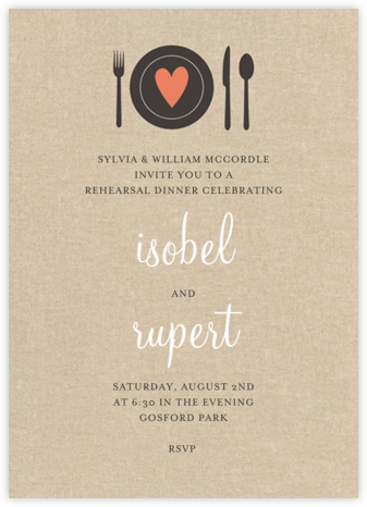Heart Setting - Paper Source - Wedding Weekend Invitations