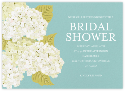 Hydrangea - Paper Source - Bridal shower invitations