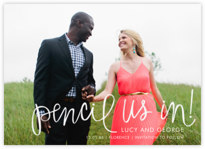 Pencil Us In - Paper Source - Save the dates