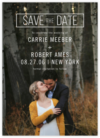 San Serif Block - Paper Source - Save the date cards and templates