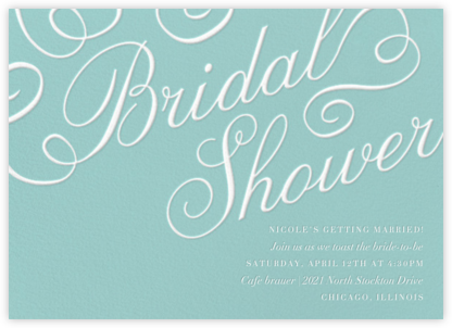 Script Bridal Shower - Paper Source - Bridal shower invitations
