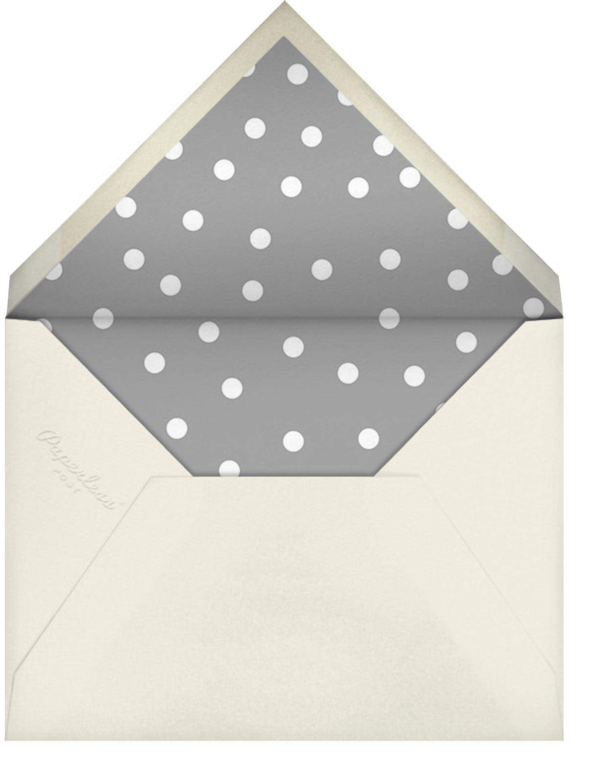 Snowballs - Greeting - The Indigo Bunting - Holiday cards - envelope back