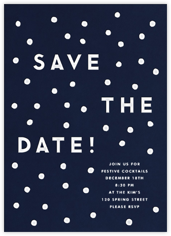 Snowballs (Save the Date) - The Indigo Bunting - Business Party Invitations