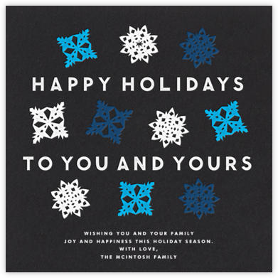 Snowflake Multiple - Greeting - The Indigo Bunting - Company holiday cards