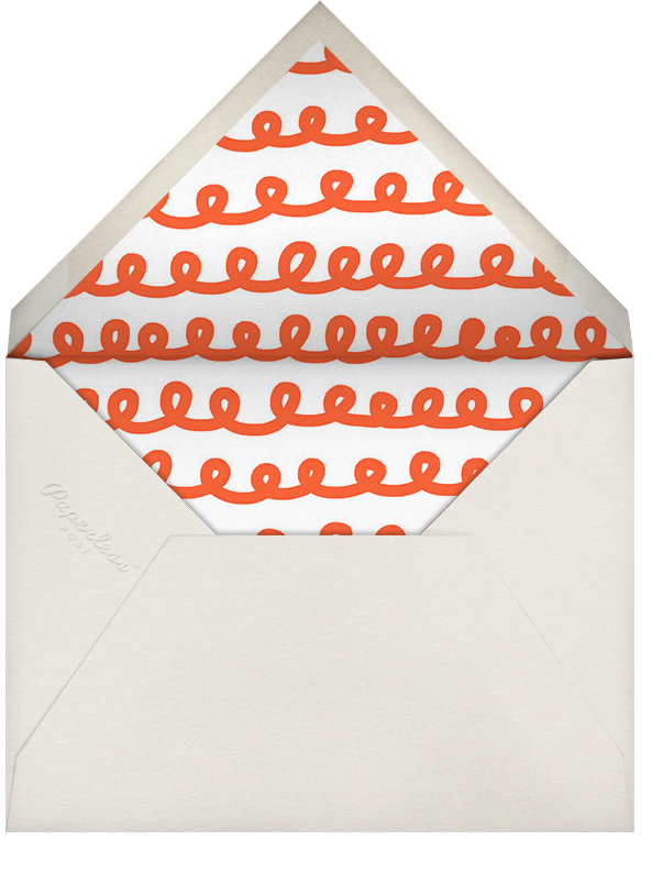 Curly Border - Red - The Indigo Bunting - Holiday cards - envelope back