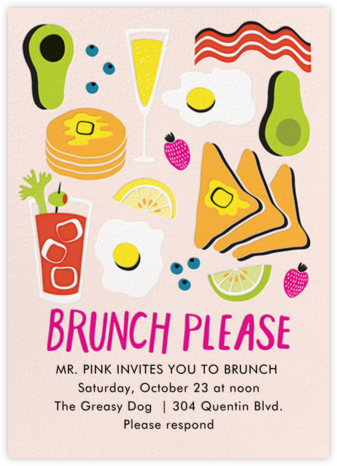 American Brunch - Paper Source - Wedding Weekend Invitations