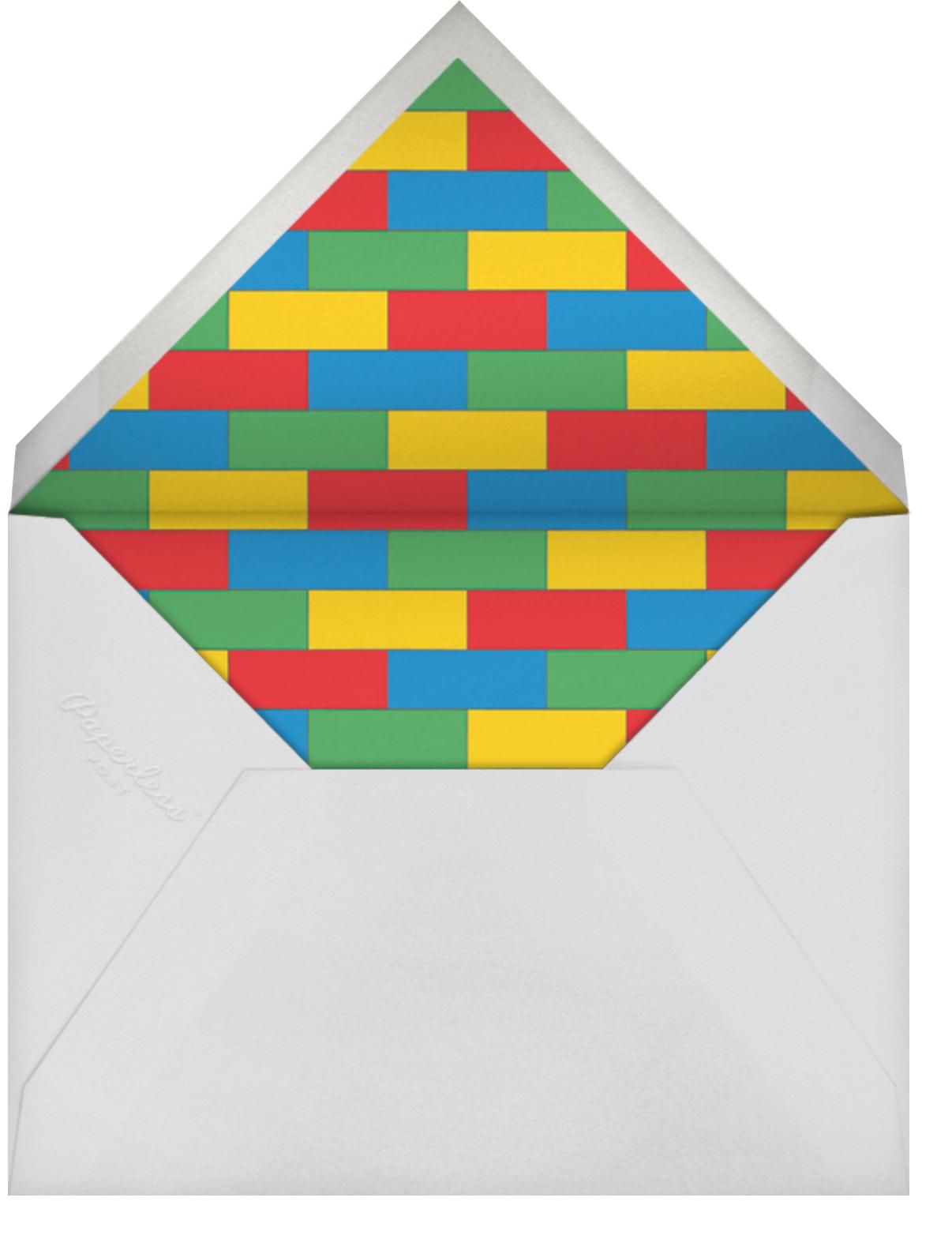 Building Block Party Photo - Paperless Post - Kids' birthday - envelope back