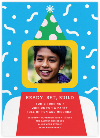 Building Block Party Photo - Paperless Post -