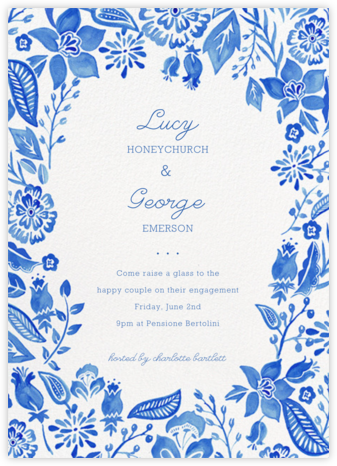 Blue Floral - Paper Source - Wedding weekend