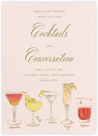 Cocktail Hour - Paper Source - Happy hour invitations