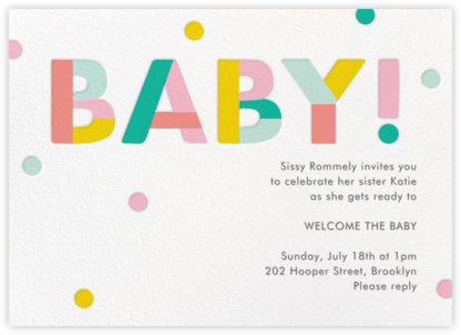 Colorblock Baby - Paper Source - Celebration invitations
