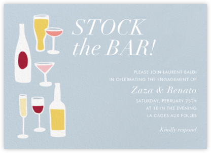 Drinks and Mixers - Paper Source - Engagement party invitations