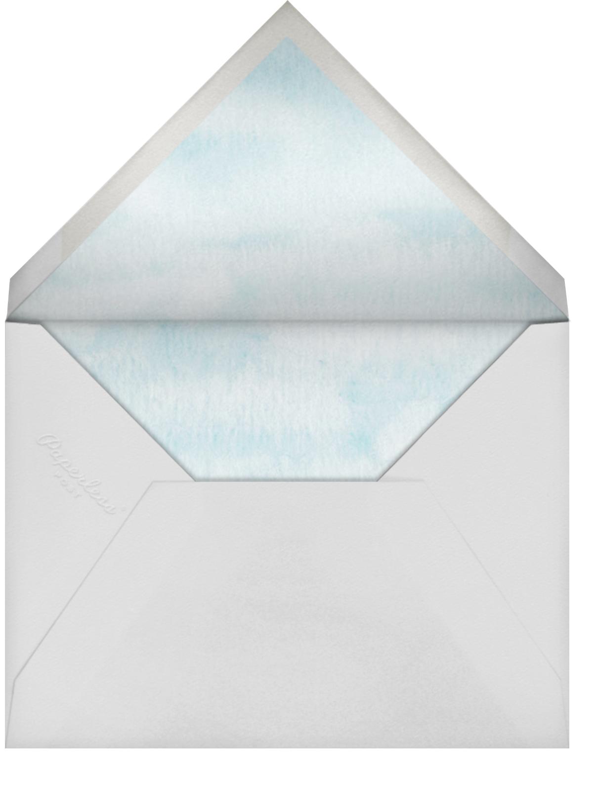 Gradient Wash - Paper Source - Rehearsal dinner - envelope back