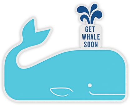 Get Whale Soon - Jonathan Adler - Get well cards