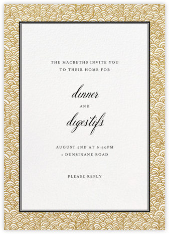 Naive Wave - Gold - Paperless Post - Online Party Invitations