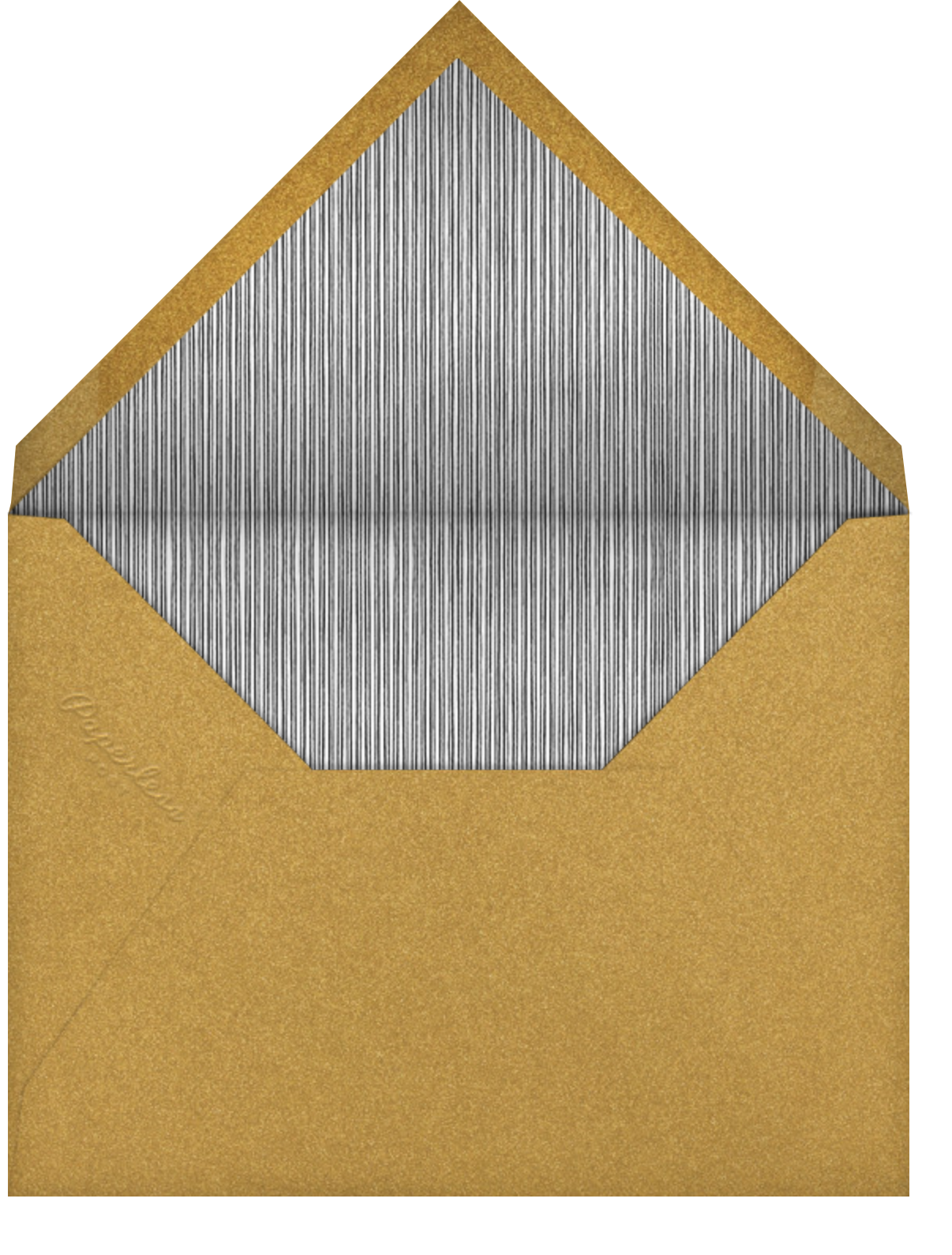 Naive Wave - Gold - Paperless Post - Cocktail party - envelope back