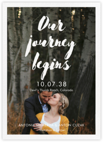 Our Journey Begins - Paper Source - Photo save the dates