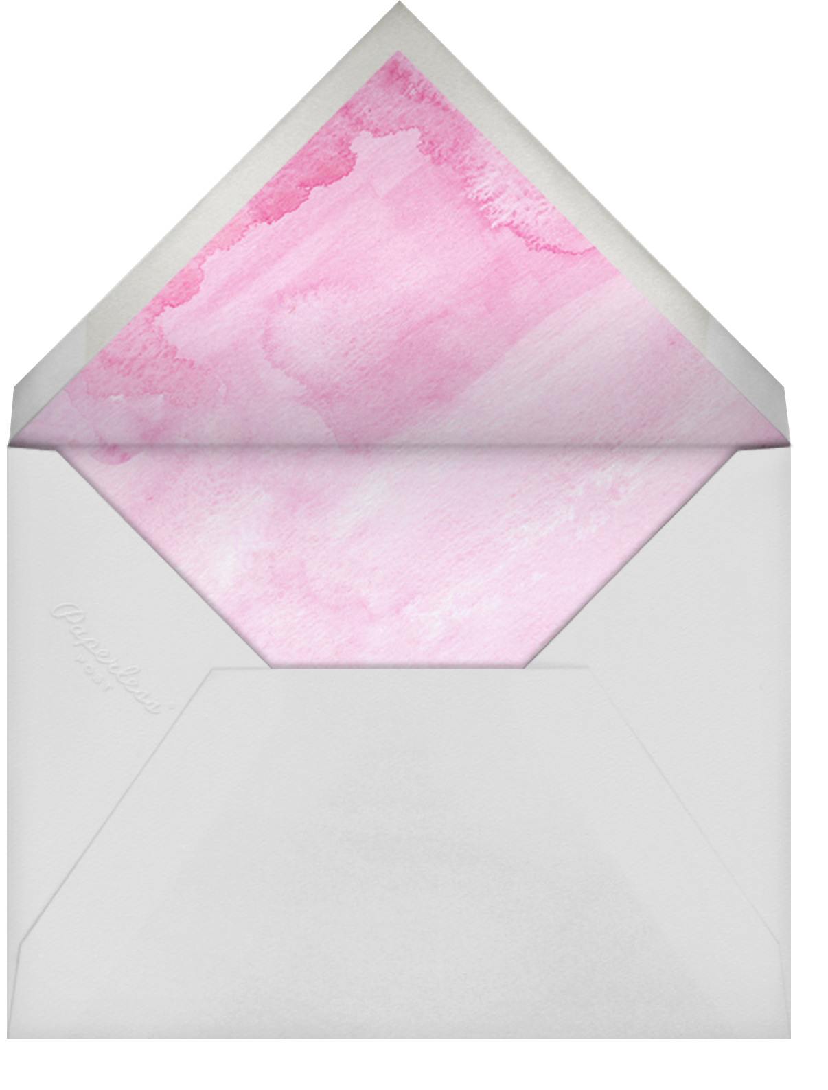 Rainbow Brushstrokes - Pink - Paper Source - Adult birthday - envelope back