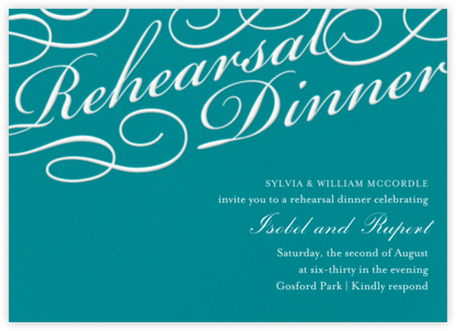 Script Rehearsal Dinner - Paper Source - Wedding Weekend Invitations