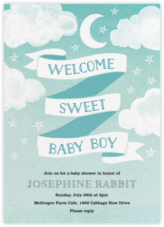 Sweet Baby Boy - Paper Source - Online Baby Shower Invitations