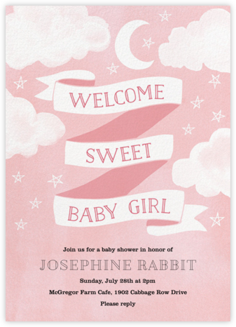 Sweet Baby Girl - Paper Source - Baby Shower Invitations