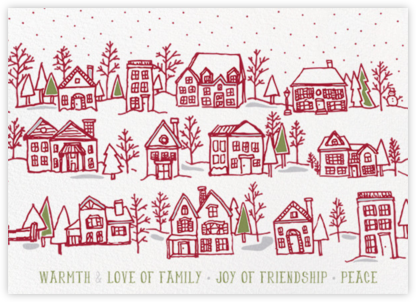 Village Holiday Card - Paper Source -