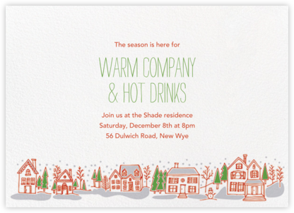 Village Holiday Invitation - Paper Source - Holiday party invitations