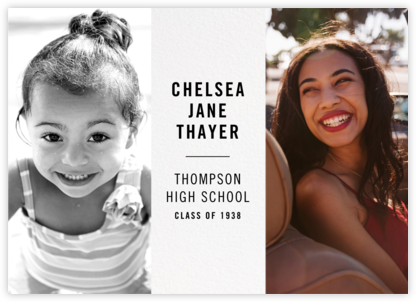 Then and Now - Paperless Post - Graduation announcements