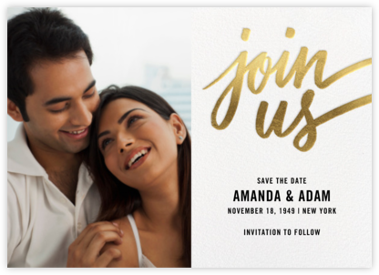 Rosina Photo - Gold - Paperless Post - Save the dates