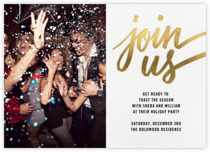 Rosina Photo - Gold - Paperless Post - Business Party Invitations