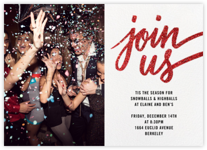 Rosina Photo - Red - Paperless Post - Holiday party invitations