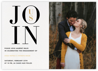 Almaviva Photo - Join Us - Paperless Post - Engagement party invitations