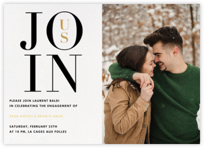 Almaviva Photo - Join Us - Paperless Post - Engagement party invitations