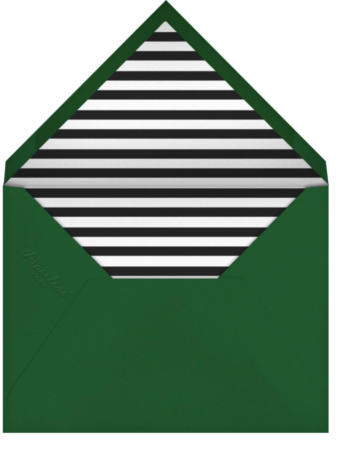 Ornaments - The Indigo Bunting - Holiday cards - envelope back