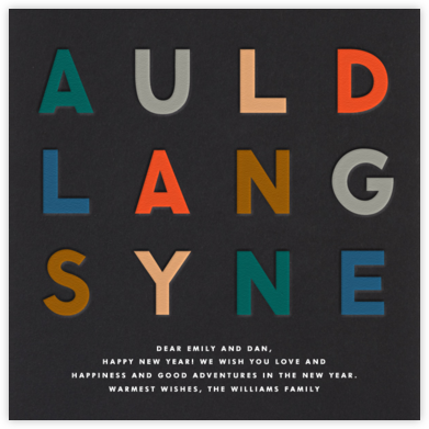 Auld Lang Syne - The Indigo Bunting - Business Party Invitations