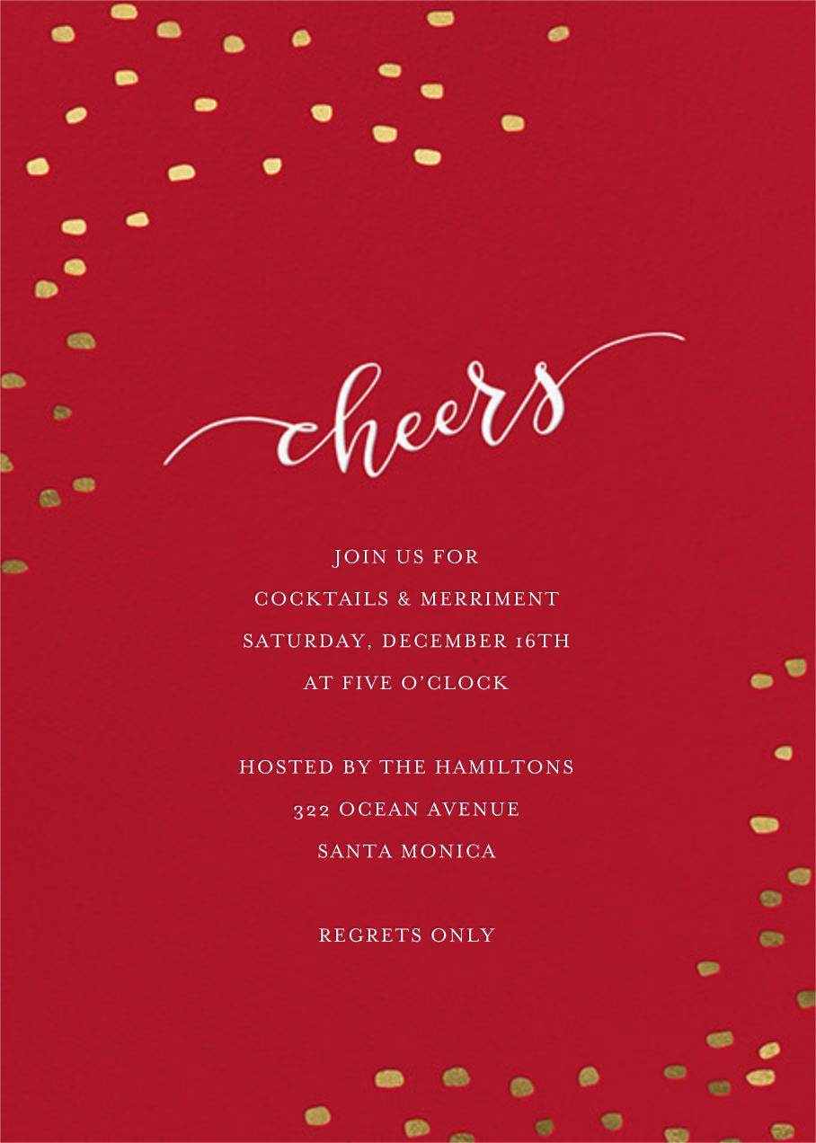 Holiday Cheers - Sugar Paper - Holiday party invitations