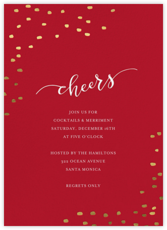 Holiday Cheers - Sugar Paper - Winter entertaining invitations