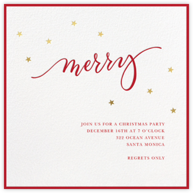 Merry Stars - Sugar Paper - Holiday party invitations