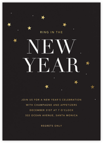 New Years Sky - Sugar Paper - New Year's Eve Invitations