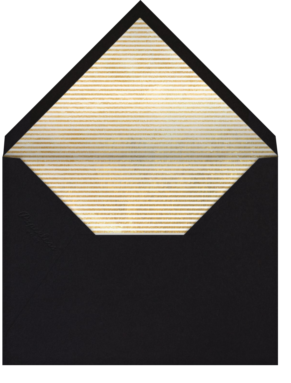 New Years Sky - Sugar Paper - New Year's Eve - envelope back