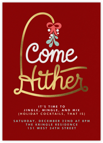 Come Hither - Paperless Post - Holiday invitations