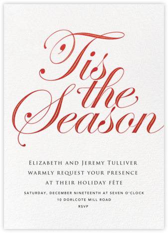 Season's Flourish - White - Paperless Post - Winter Party Invitations