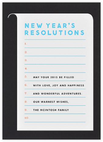 Resolutions - The Indigo Bunting -
