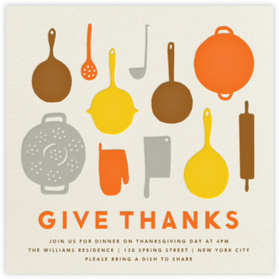 Pantry - Give Thanks - The Indigo Bunting - Thanksgiving invitations