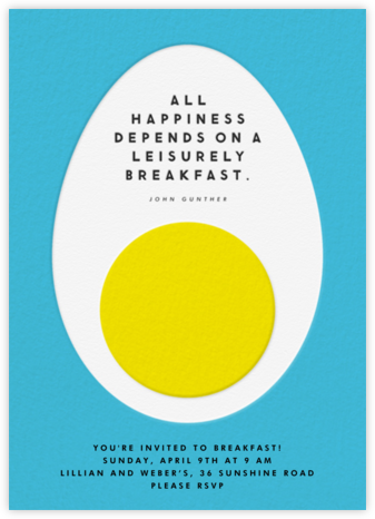 Egg Quote - The Indigo Bunting - Brunch invitations