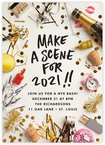 2021 Scene - Cheree Berry Paper & Design - New Year's Eve Invitations